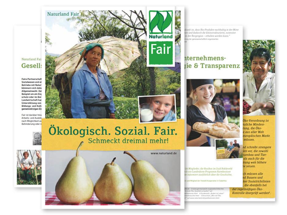 Ökologisch Sozial Fair Broschüre Naturland mërz punkt