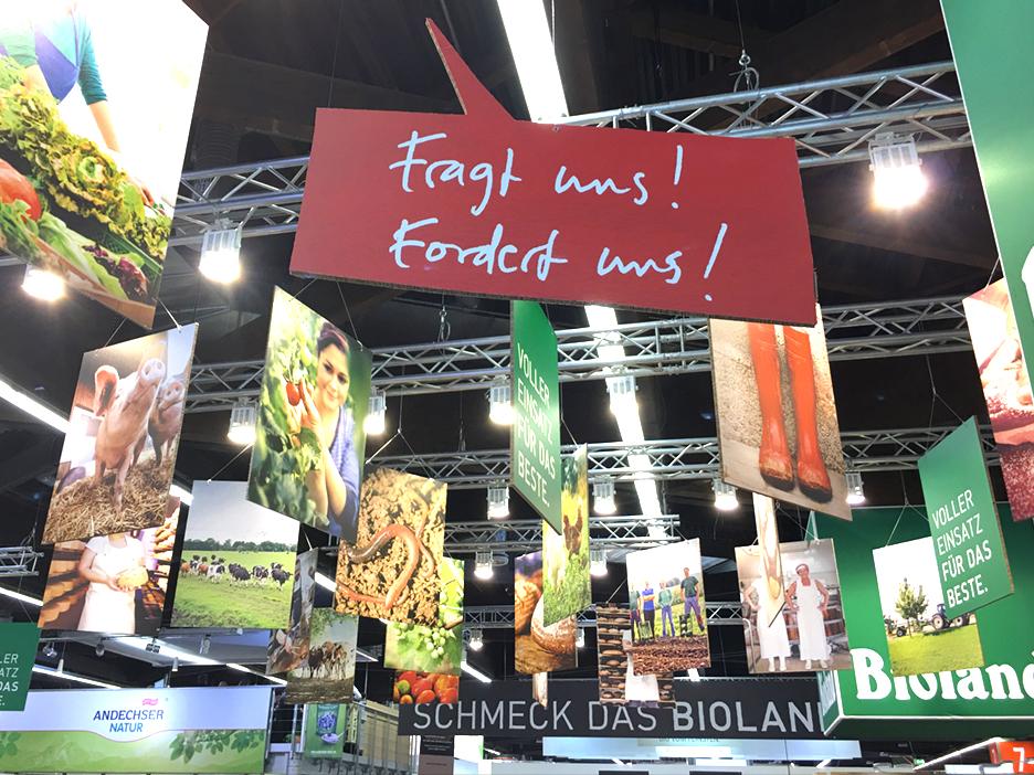 BIOFACH 2017 Bioland Messestand Design merzpunkt
