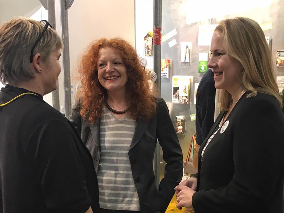 Martina Merz Margarethe Bause Katharina Reuter UnternehmensGrün merzpunkt biofach 2017