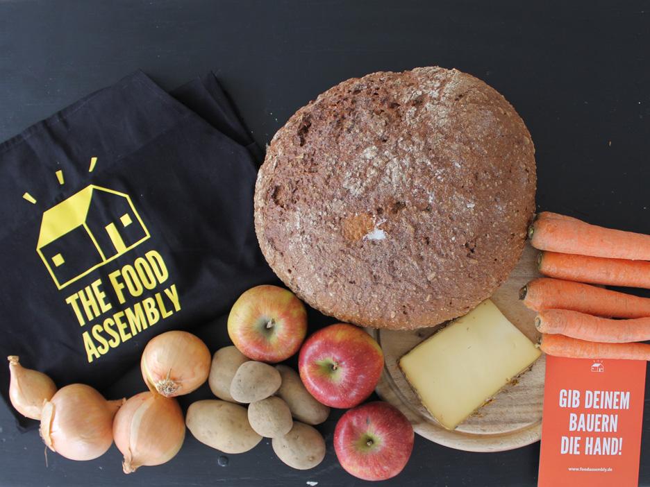 food assembly Erzeugermarkt in der GUBE20 bei mërz punkt, immer donnerstags