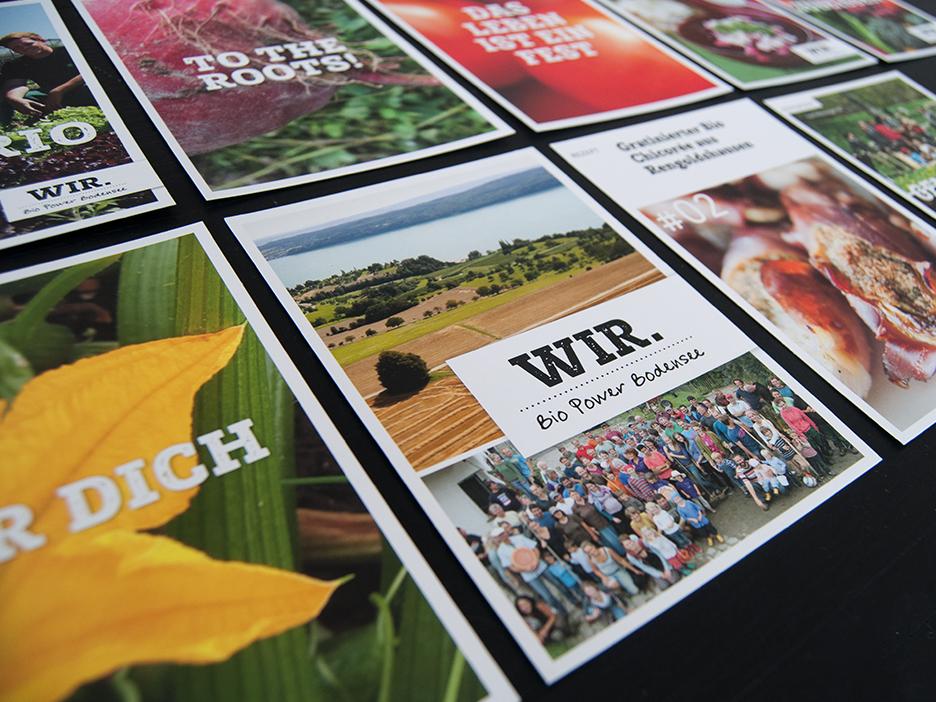 WIR. Bio Power Bodensee Postkarten Bodan